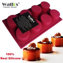 $enCountryForm.capitalKeyWord Australia - WALFOS 3D Handmade Round Shape Silicone Cake Mold 3Cupcake Jelly Pudding Cookie Mini Muffin Soap Mold DIY Baking Tools