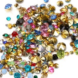 resin beads for jewelry making NZ - 1000pcs Mixed Sizes And Many colors to choose Point Back Resin Rhinestones Round Glitter Beads For Jewelry Making DIY Supplies