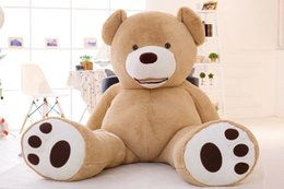 """$enCountryForm.capitalKeyWord NZ - EMS Huge big 260cm 102"""" Stuffed animal teddy bear cover plush soft toy doll model pillow cover (without stuff) kids baby gift"""