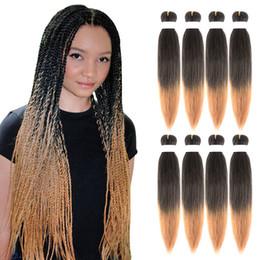 $enCountryForm.capitalKeyWord Australia - Sambraid EZ Jumbo Braids Pink Ombre Synthetic Hair Extensions Crochet Braids 20inch 85g pack Synthetic Hair For Black Women