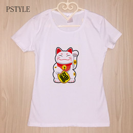 1ddab0276d5 wholesale japanese t shirts 2019 - japanese harajuku tshirt kawaii cat print  t shirt women casual