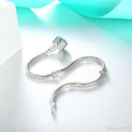$enCountryForm.capitalKeyWord Australia - 2019 1pcs Drop Shipping Silver Plated Bracelets with LOGO Women Snake Chain Charm Beads for pandora Bangle Bracelet Children Gift B001