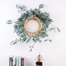 fake vines decoration UK - 1.7m Artificial Vines Willow Wedding Ceiling Winding Road Lead Decorative Rattan Hotel Showcase Decoration Fake Flowers