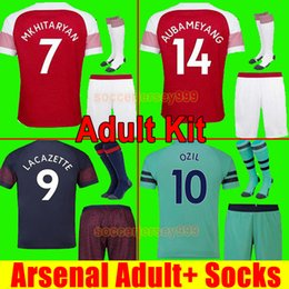 5df853923 Thailand soccer jersey football shirt uniforms adult kit 18 19 AUBAMEYANG  LACAZETTE MKHITARYAN WILSHERE 2018 2019 RAMSEY OZIL third 3rd