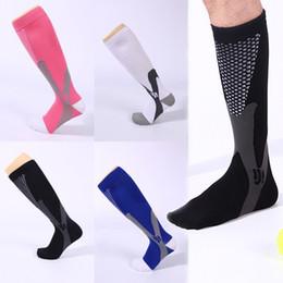 Compression soCks sports online shopping - Adult Men Women Compression Socks for Sport Running Colors Professional Basketball Football Socks Long Tube High Knee Socking G460Q F