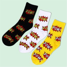 $enCountryForm.capitalKeyWord UK - Letter Fashion Harajuku Printing Colorful Men Happy Casual Ventilation Cotton Socks Male Funny Street Hip Hop Skate Socks Autumn
