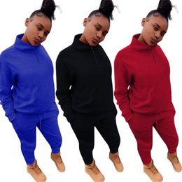 cycling sexy 2019 - Womens clothing long sleeve outfits 2 piece set spring sexy fashion casual tracksuit jogging sport suit sweatshirt tight