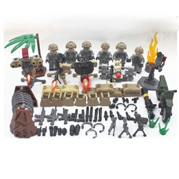 $enCountryForm.capitalKeyWord Australia - 6pcs set Military Desert Air Force Army Building Blocks Brick Figures Model Kits Toys Children Gift