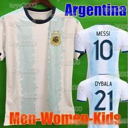 argentina l short NZ - Thailand Argentina soccer jersey copa america 2019 2020 MESSI DYBALA HIGUAIN ICARDI football soccer shirt kit Men Women Kids Long sleeve set