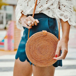 $enCountryForm.capitalKeyWord Australia - Cirlce Straw Bag Women Bali Rattan Handbags Woven Sac A Main Hobo Ladies Bohemian Handbag Shoulder Bags Women Beach Bag Straw