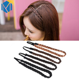 blended wigs 2019 - New Wig Headband Women Fashion Braids Hair Accessories Girls Hairpiece Twisted Hair Bands Elastic Wedding Plait Headdres