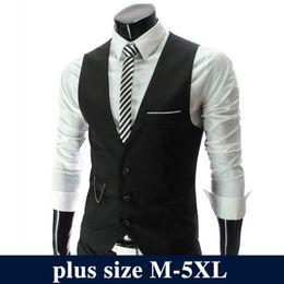 Formal Suits Waistcoat Australia - 2019 Fashion Suit Vest Men Hot Sale Formal Dress Vest Brand Clothing Quality Fitness Business Sleeveless Jacket Waistcoat Men