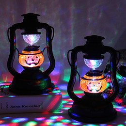 vintage lantern lamp UK - Halloween Decoration Costumes For Woman Kid Vintage Lantern Party Hanging Decor LED Light Lamp Portable Nightlight Holiday Light