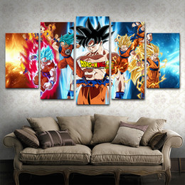 $enCountryForm.capitalKeyWord Australia - Canvas Paintings Home Decor Frame 5 Pieces Anime Dragon Ball Goku Poster HD Prints Vintage Pictures Modular Living Room Wall Art