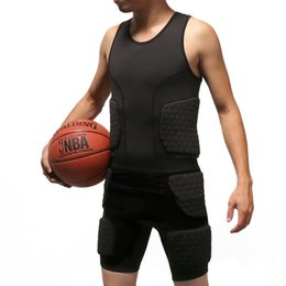 Gear vest online shopping - Basketball Anti Collision Clothing Rugby Honeycomb Vest Sleeveless Black Protective Gear Durable Practical Simple Strong Hot Sale sm D1