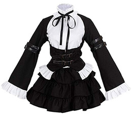 Discount cosplay maids outfit - Fairy Tail Anime Erza Scarlet Cosplay Costume Girls Uniform Black Maid Outfits