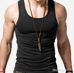 $enCountryForm.capitalKeyWord Australia - Cotton Tank Tops Summer Men Gym Sports Running Wear Bodybuilding Tops Pure Color T-Shirt Mens Tank Tops Plus Size 7XL
