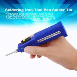 solder electronics Australia - 8w 4 .5v Electronic Welding Battery Powered Soldering Iron Tool Electric Pen Solder Tin Wire Mini Welding Tools Sale