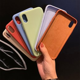 $enCountryForm.capitalKeyWord Australia - For Iphone X Xr Xs Max Luxury Silicone Case For Iphone 7 8 Plus 6 6s 5s Se Case Soft Tpu Liquid Original Phone Cover Shockproof T190702