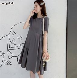 $enCountryForm.capitalKeyWord Australia - Poungdudu maternity pregnant women dress loose long section irregular t-shirt dress Real shot spot