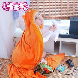 Wholesale cloak online – ideas High Quality Himouto Umaru chan Cloak Anime Umaru Chan Doma Umaru Cosplay Costume Flannels Cloaks Blanket Soft Cap Hoodie