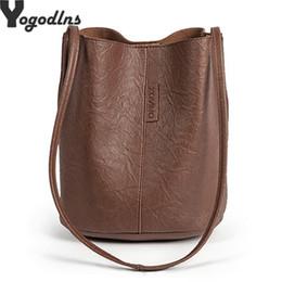 $enCountryForm.capitalKeyWord Australia - New Tide Solid Oil PU Material Small Fairy Bag Bucket Bag Casual Wild Single Shoulder Ladies Cross body Messenger