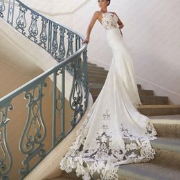 $enCountryForm.capitalKeyWord Australia - New Style Bohemian Boho Wedding Gown Spaghetti Straps Satin Bridal Gowns Mermaid Wedding Dresses 2019 Vestido De Noiva Sereia