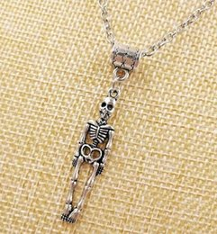 Silver Charm Medical Australia - HOT Fashion Vintage silver Medical Human Skeleton Charm Pendant sweater chain suitable Necklace DIY jewelry For Women Gift - 51