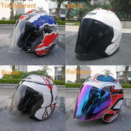 Venta al por mayor de Motocicleta Medio casco de visor de casco para cascos de moto ARAI