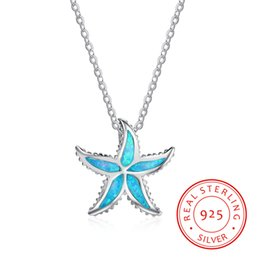 $enCountryForm.capitalKeyWord Canada - high quality 925 sterling silver Europe Style silver star necklace setting with blue synthetic opal Chinese hot