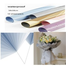 Handmade Wrapping Paper Australia - 58x58cm Clear Waterproof Plastic Flower Bouquet Packaging Material Florist Supplies Christmas Gift Wrapping Paper Handmade Party Decoration