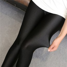 Wholesale hot gold leggings for sale - Group buy 2019 lady push up slim leggings fashion new style hot shine legging girl black leggings summer autumn large size fitness pant
