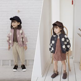 d51e9d2de 2019 Autumn Winter New Arrival korean version dot pattern fashion Woolen Knitted  sweater coat for cute sweet baby girls and boys