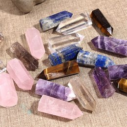 Gold prism online shopping - Six Prism Healing Crystals Column Single Cusp Energy Stone Lustrous Quartz Rock Eliminate Magnetic Nice Looking Hot Sale sj7D1