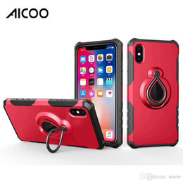 Iphone Cases Raindrops Australia - Aicoo Magnetic Raindrop Ring Holder Case Dual Layer Armor 2 In 1 Cover for iPhone XS MAX X 8 7 6 Plus 5se Samsung Note 9 8 S9 S8 Plus OPP