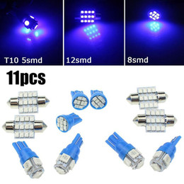 Wholesale Boxes Packaging Australia - 11pcs Canbus Car White LED Light Bulbs Interior Package Kit For 1998-2004 Audi A6 C5 Map Dome Glove Box Truck Lamp ice blue 12v