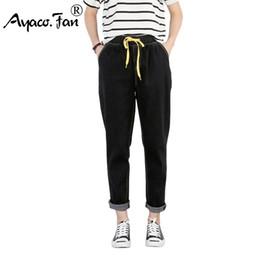 $enCountryForm.capitalKeyWord Australia - Plus Size Loose Jeans For Womens Students Boyfriend Autumn Ankle-length Pants Ladies Harajuku Pantalon Femme Stretch Trousers J190621