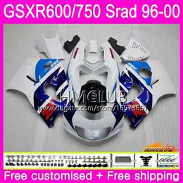 $enCountryForm.capitalKeyWord UK - Body For SUZUKI SRAD GSXR 750 600 1996 Hot 1997 1998 1999 Blue White 2000 Kit 1HM.7 GSX-R750 GSXR-600 GSXR750 GSXR600 96 97 98 99 00 Fairing