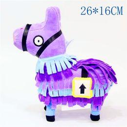 Discount trolls plush - 4 Color Troll Stash Llama Plush Toy Game Alpaca Rainbow Horse Stash Fluffy Soft Stuffed Doll Toys Kids Birthday Gift 20