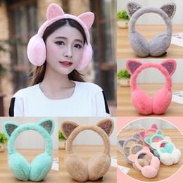 $enCountryForm.capitalKeyWord Canada - New Cute Ladies Girls Earmuffs Cute Furry Ear Muffs Comfy Soft Snow Outdoor Winter
