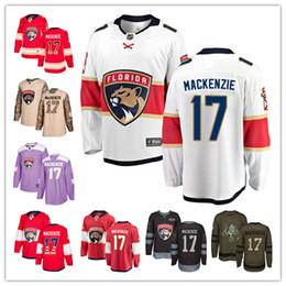 cbfc194af Florida Panthers jerseys  17 Derek MacKenzie Jersey hockey men women youth  red white black green home Breakaway Stiched authentic Jerseys