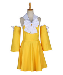 Wholesale women s fairy costumes for sale - Group buy Fairy Tail Levy Mcgarden Yellow Girls Summer Party Dress Cosplay Costume
