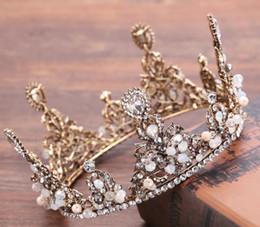 Monili di cerimonia nuziale del cerchio dei capelli della corona della retro corona dei capelli della corona della sposa della corona della corona piena degli accessori di cerimonia nuziale in Offerta