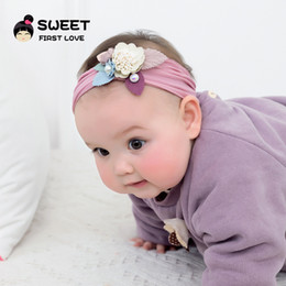 Headbands Bow Australia - fashion Europe style Baby girls Flower Hair Band Stereo flowers pear Kids Elastic Party Hair Accessory children Hair bow Y1378