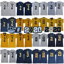 peppers jersey michigan Australia - NCAA Michigan Wolverines 3 Rashan Gary 21 Desmond Howard 10 Tom Brady 4 Jim Harbaugh Shea Patterson Jabrill Peppers 150TH Football Jersey