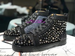 Worldwide Shoes Australia - 2019 Best-selling worldwide High top Lace-up Black leather crystal sneakers Men's shoes Flat casual shoes
