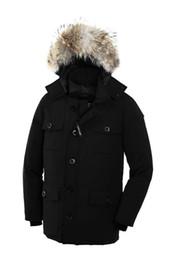 Canadian online shopping - 2019 Canadian Black Friday Shopping Days Top Copy Men Banff Down Parka Goose Black navy Red Green Winter Jacket Arctic Coat