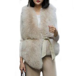 Women's Clothing S-4xl Autumn Winter Coat Women Faux Fox Fur Coat With Pu Sleeve Female Fake Fur Jacket Gilet Chalecos De Pelo Mujer Dc39 Faux Fur