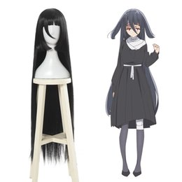Wholesale Zombieland Saga Yamada Tae Long Straight Black Cosplay Wig Women Anime Hair quot