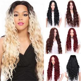 $enCountryForm.capitalKeyWord Australia - Hot Lace Front Wig Synthetic Sexy Long Wavy Hair Ash Blonde Heat Resistant Hair